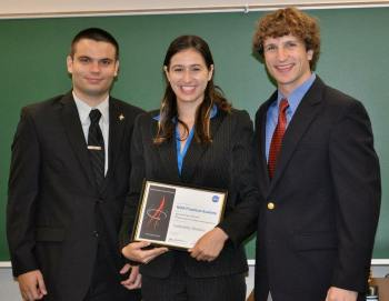 Photo: (l-r) Academy's Operations Manager Daniel Jones, Samantha Rawlins, and Academy''s Program Manager Tim Duquette.