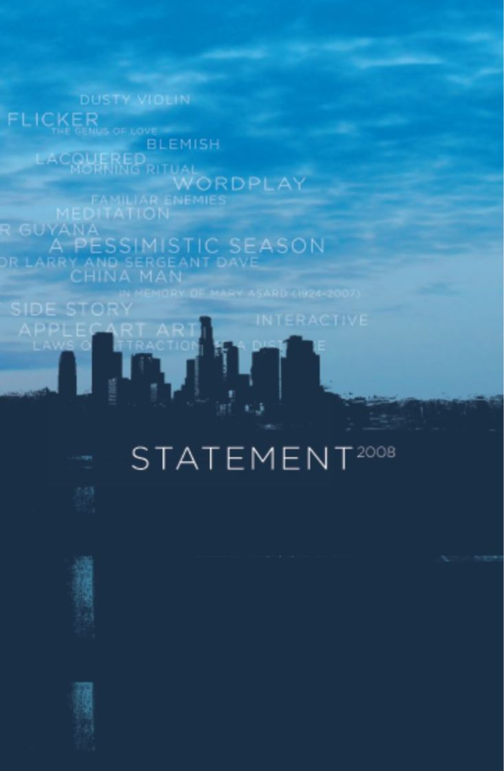 Cover image Statement 2008