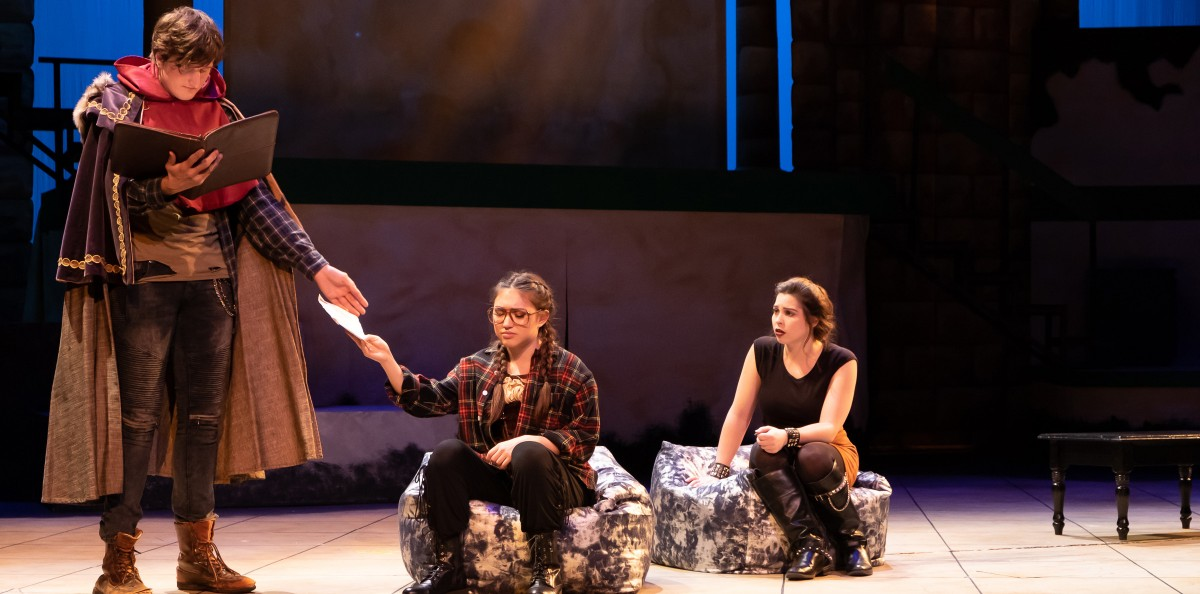 Actors on stage during a play at Cal State LA