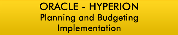 Oracle Hyperion Planning and Budgeting