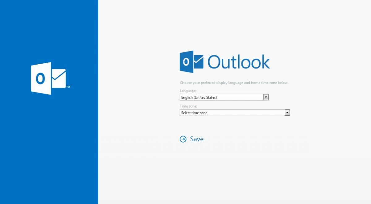 Outlook Screen Shot first time login
