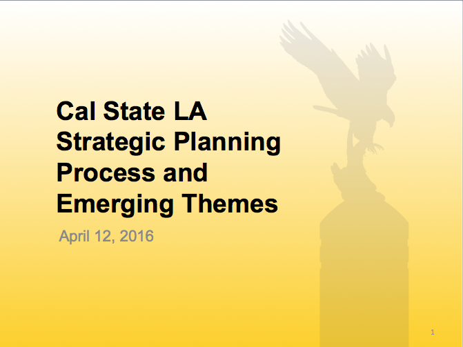 Strategic Planning Process and Emerging Themes - March 2016