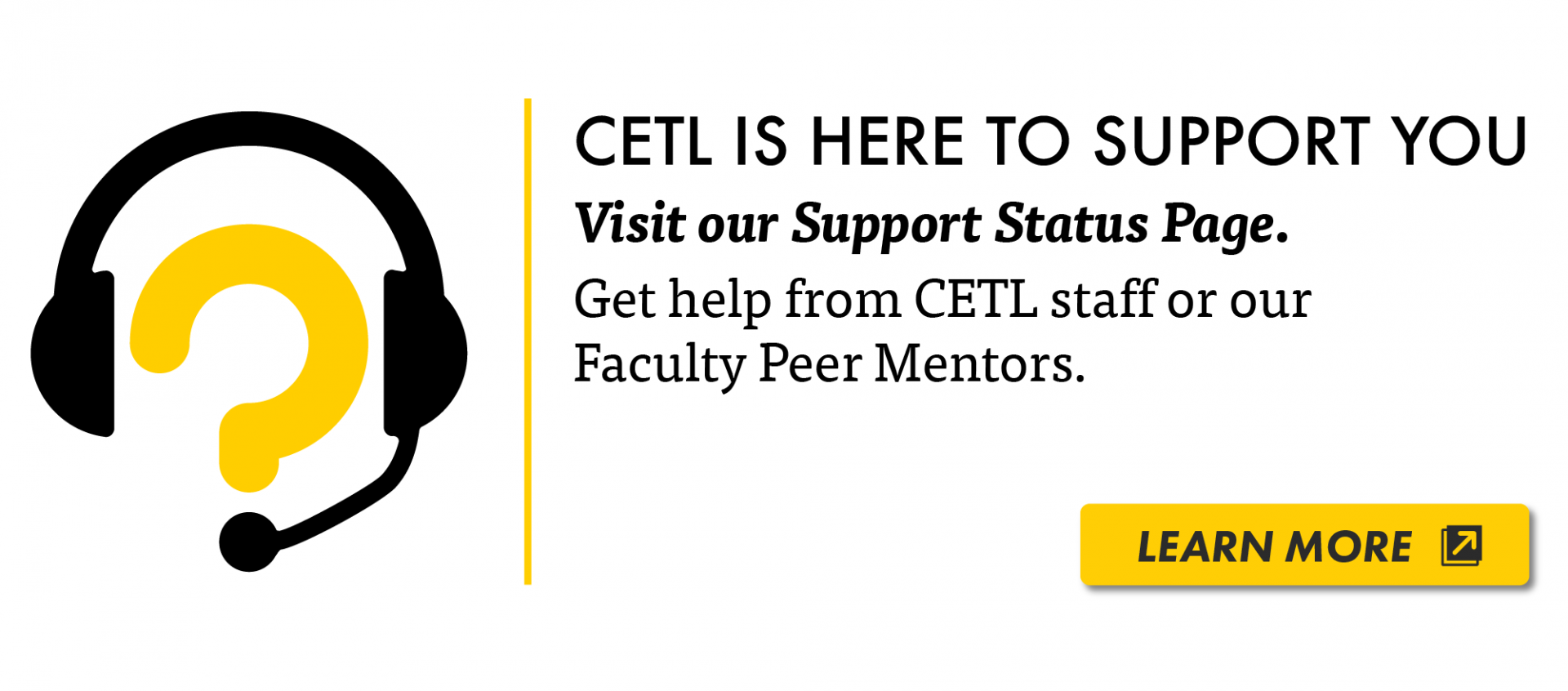 CETL is here for you