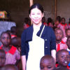 Billie Hsieh at Bushika Junior Education Center in Uganda