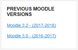 Previous Moodle versions block