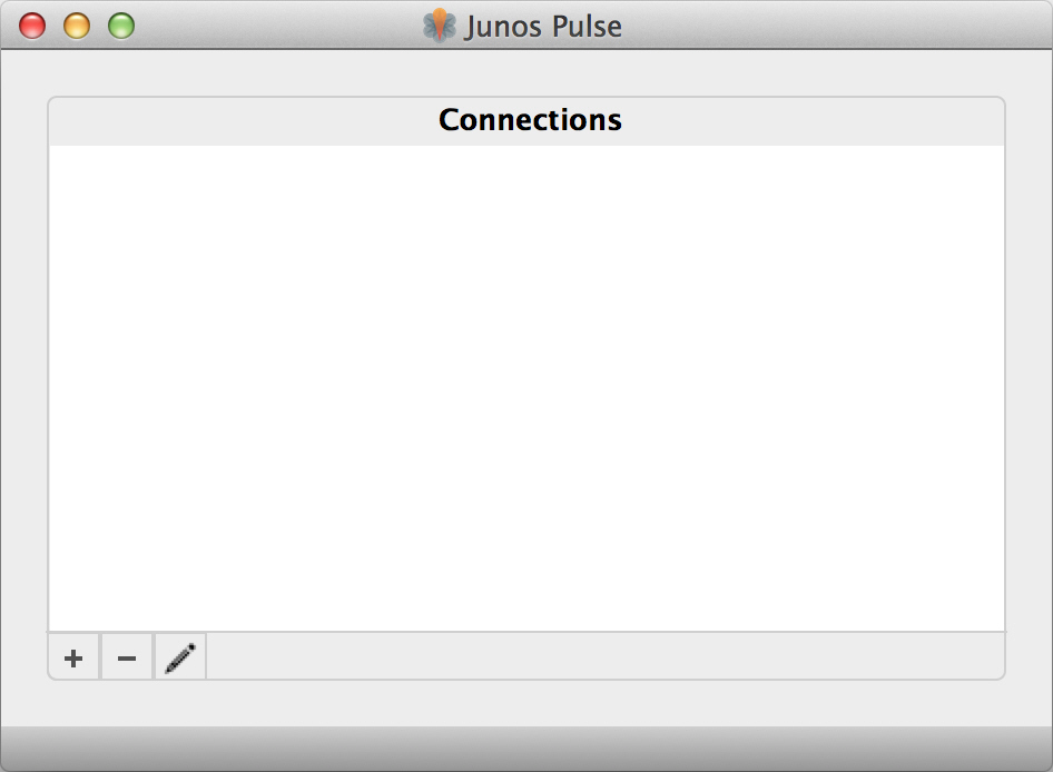 Junos Pulse Window with No Connections