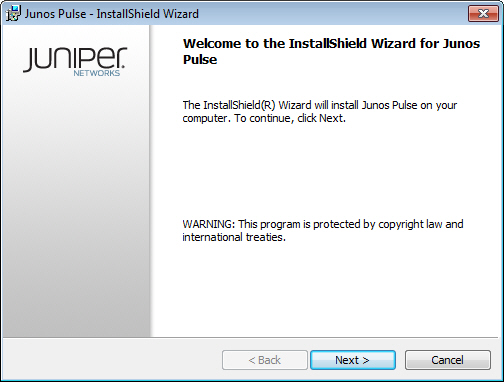 Junos Pulse InstallShield Wizard Dialog Box