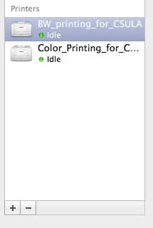 Delete printer from System Preferences