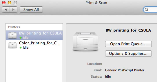 New System Preferences Print & Scan page