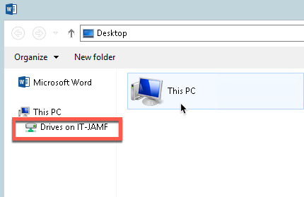 Select This PC local drive
