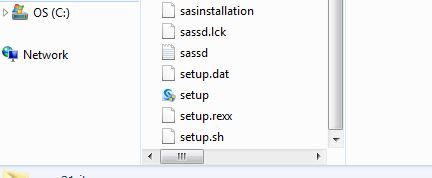 Files showing setup file