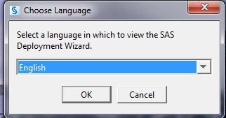 Language selection popup