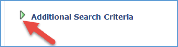 Screenshot of Additional Search Criteria arrow