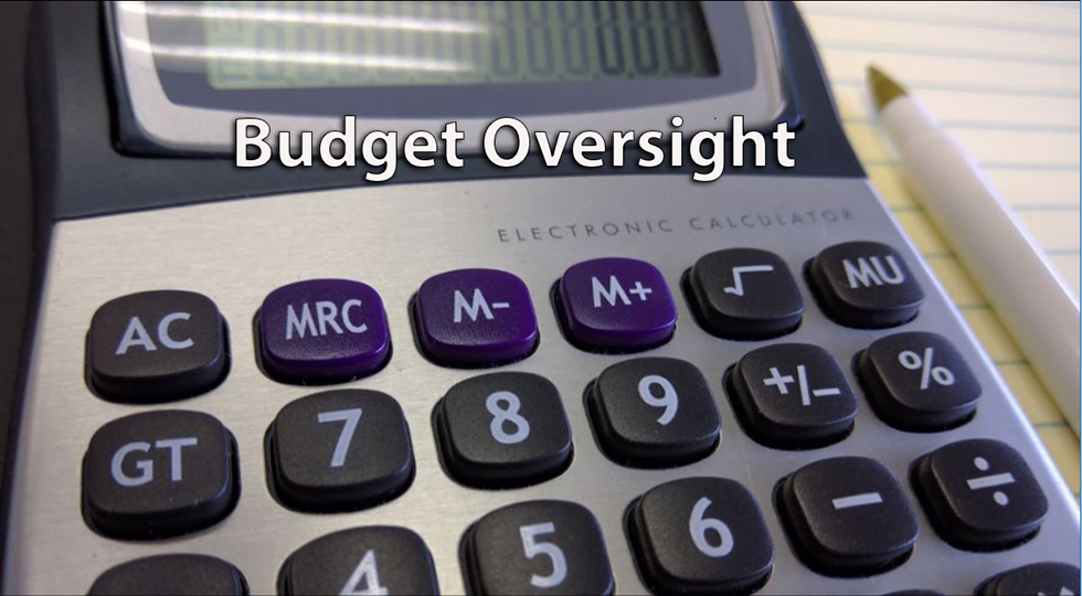 Budget Oversight Caculator