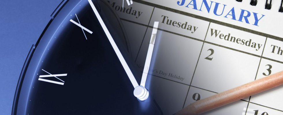 Picture of clock and calendar