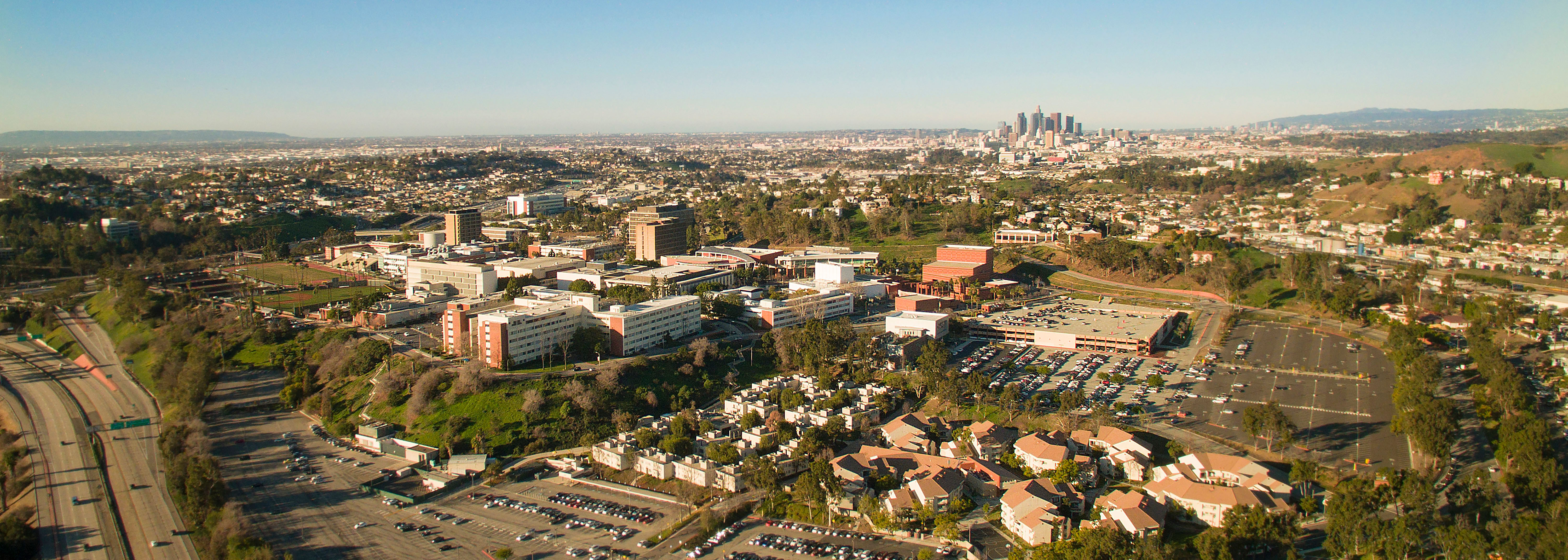 aerial photo of Cal State LA