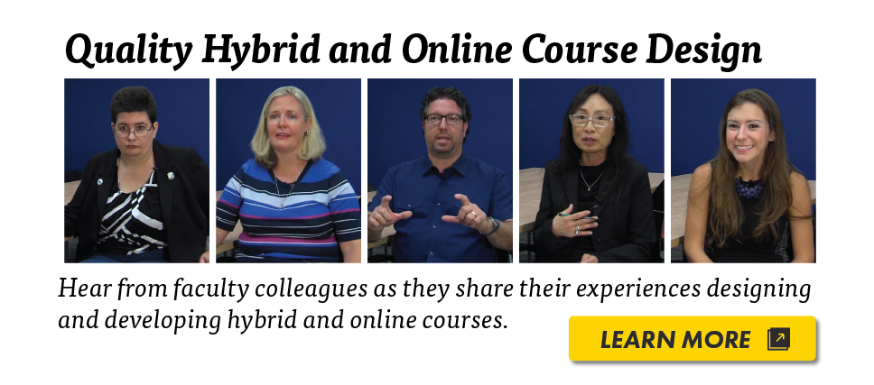 Quality Hybrid and Online Course Design