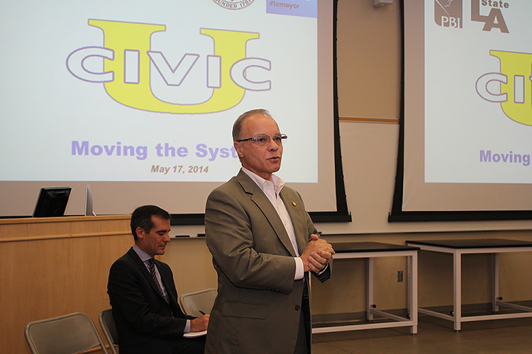 President William A. Covino remarks on student presentations at Civic University at Cal State L.A.