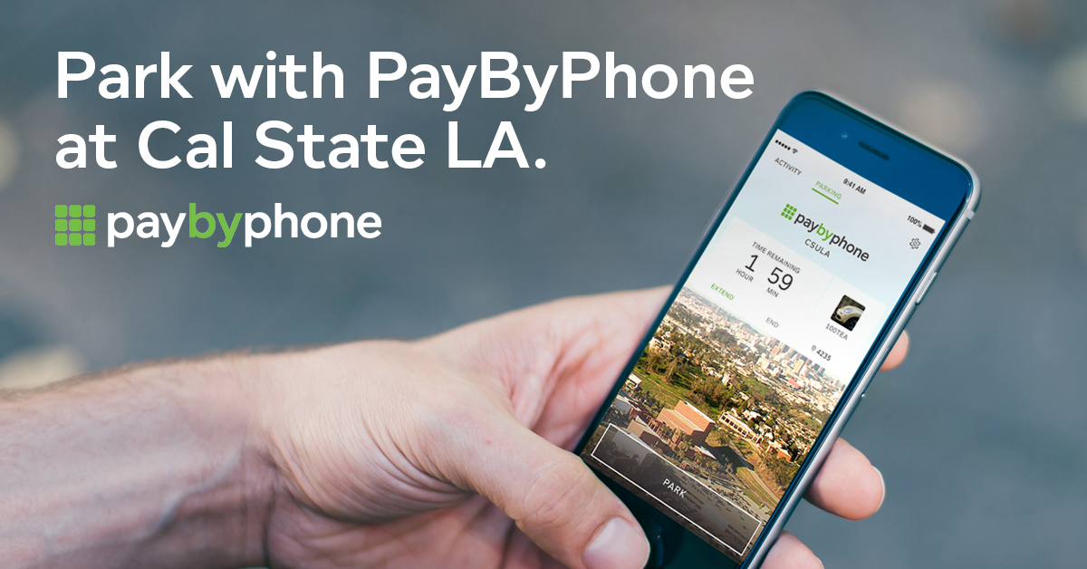 Park With Pay By Phone at Cal State LA