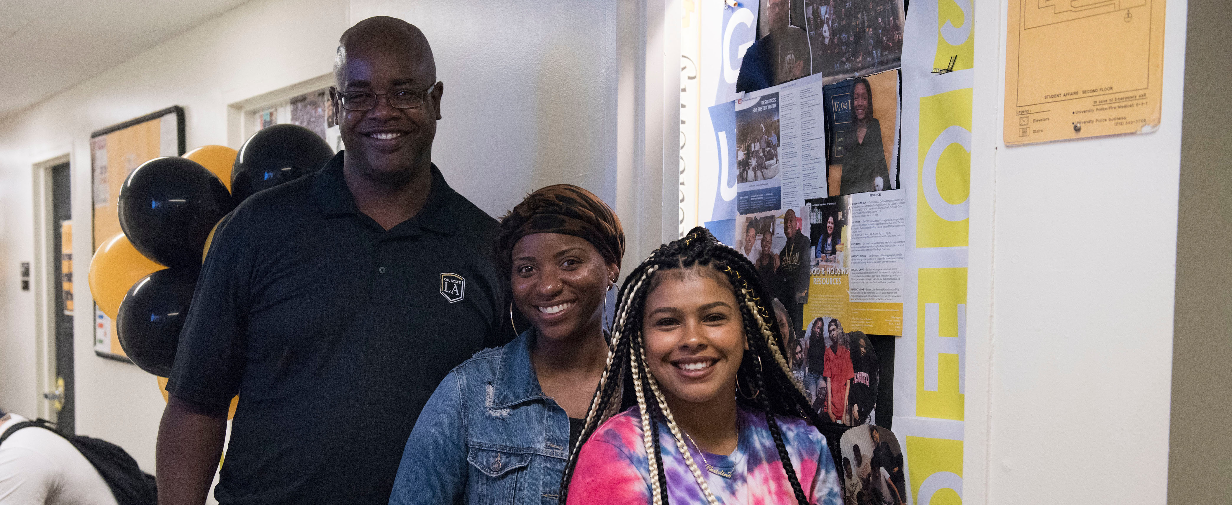 EOP Staff member with students