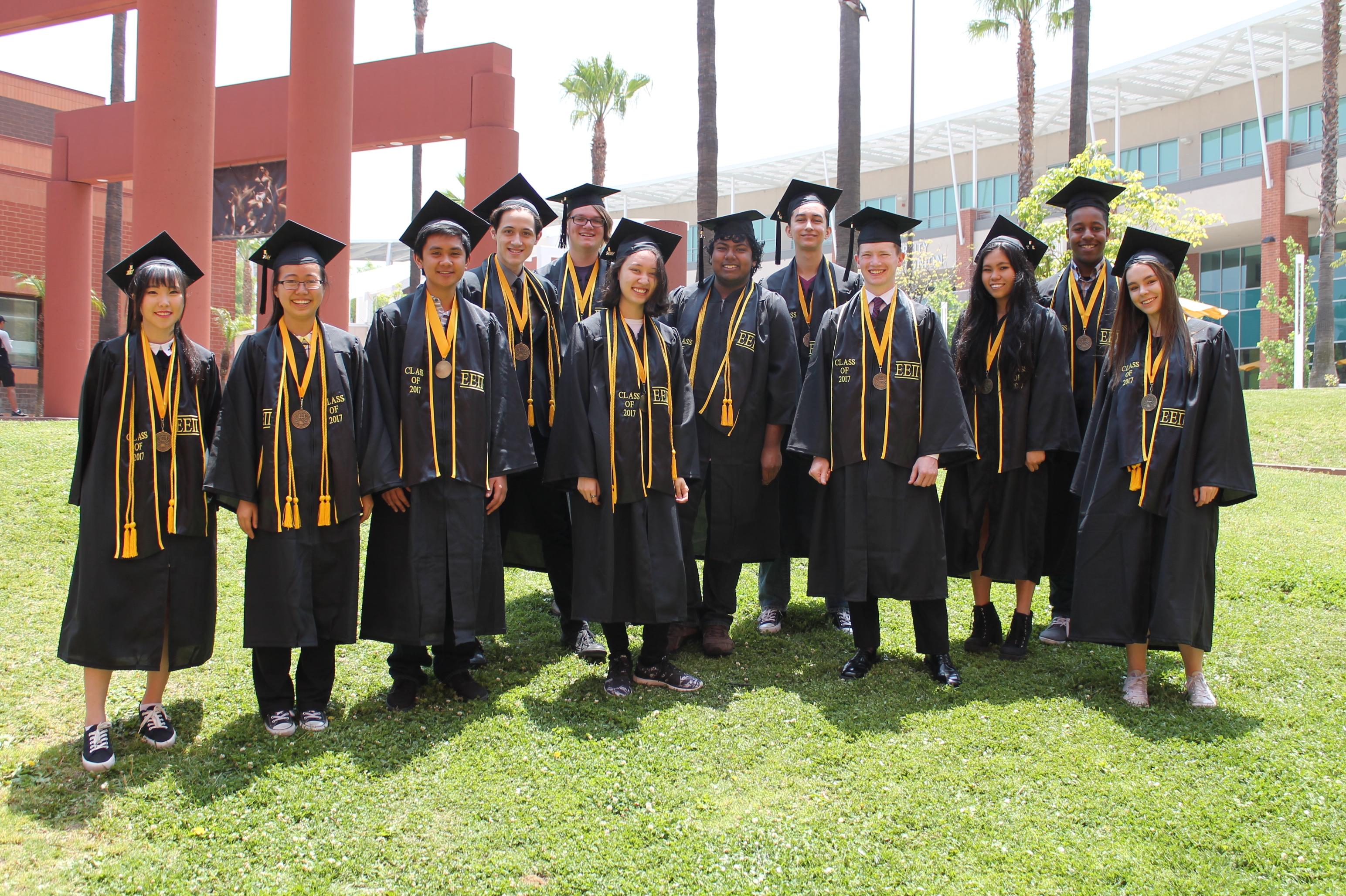 2017 Grads on grass