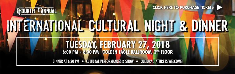 International Cultural Night & Dinner on February 27