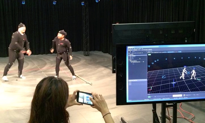 motion capture at the TVF studio