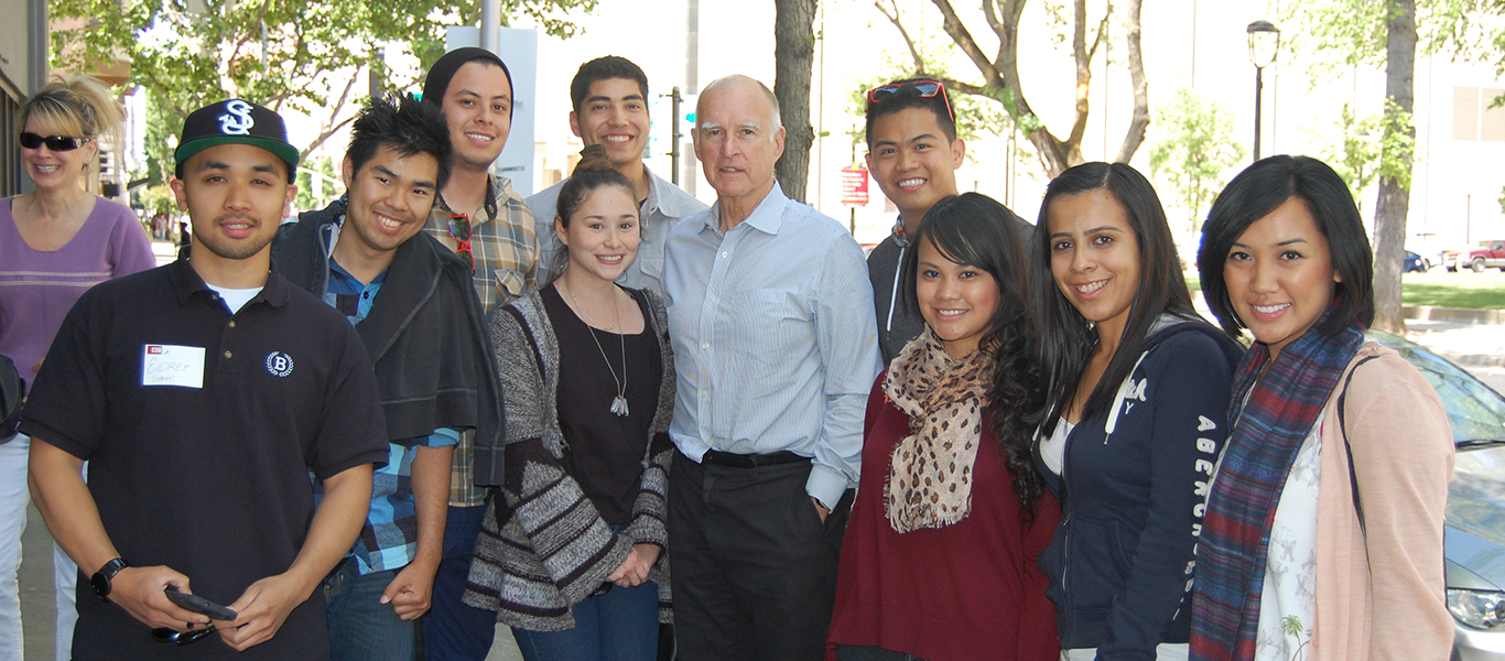 Public Health Students with Governor J. Brown