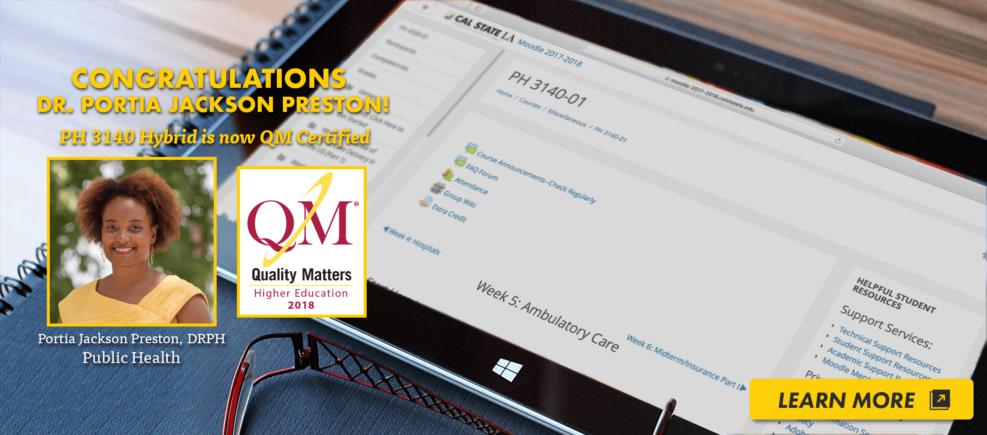 Portia Jackson Preston Quality Matters Certified Course