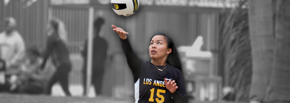 photo of student beach volleyball player