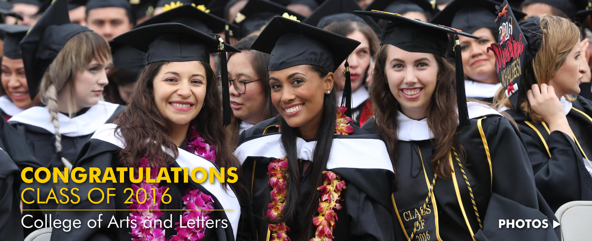 Congratulations Class of 2016: College of Arts and Letters
