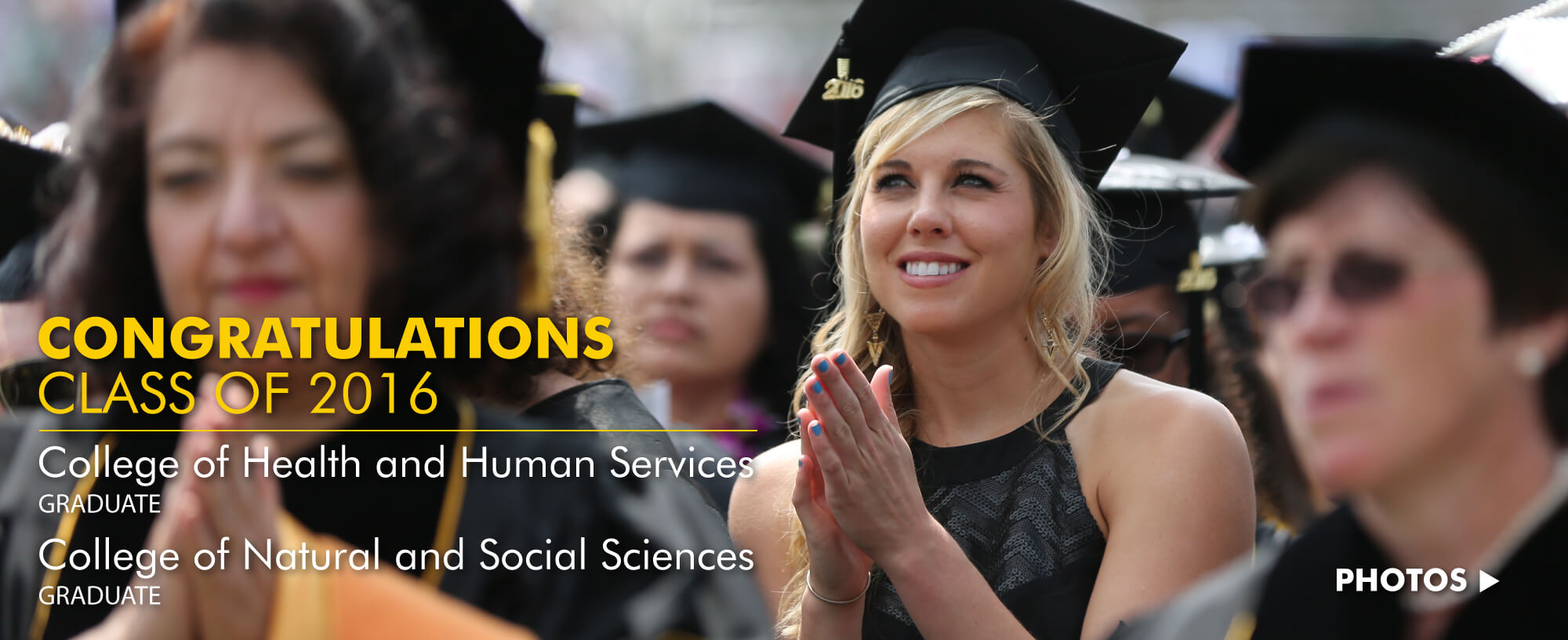 Congratulations Class of 2016: NSS and HHS Graduate degrees