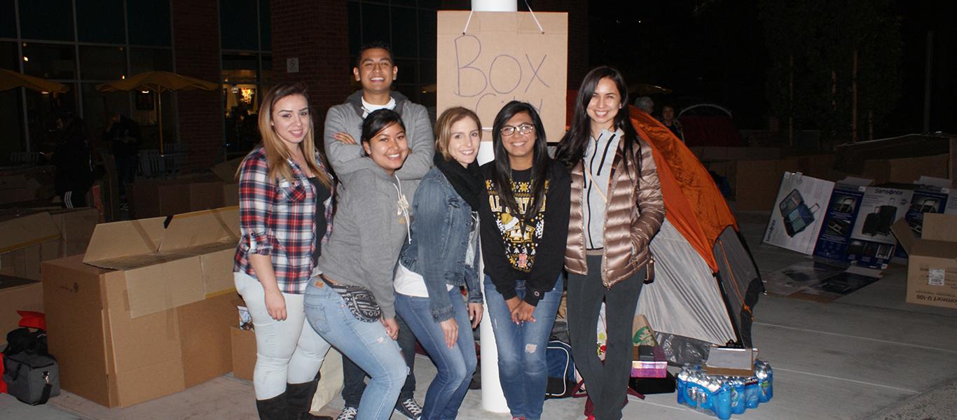Students at Box City.