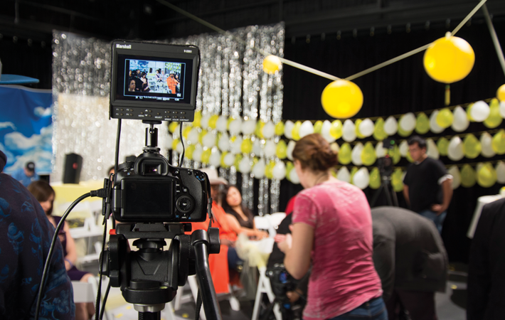 The second-year M.F.A. students were the first to really break in the new center in the fall as the cohort produced a web series.