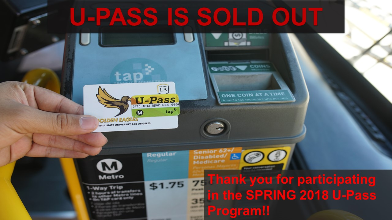 U-Passes for Spring 2018 have sold out.
