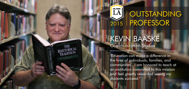 2015 Outstanding Professor Kevin Baaske