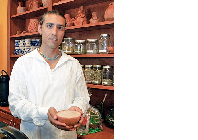 Photo of man holding a bowl