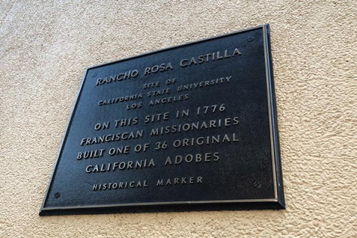 Historical mark that reads Rancho Rosa Castilla site