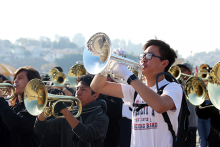 LAUSD All City Honor Marching Band members
