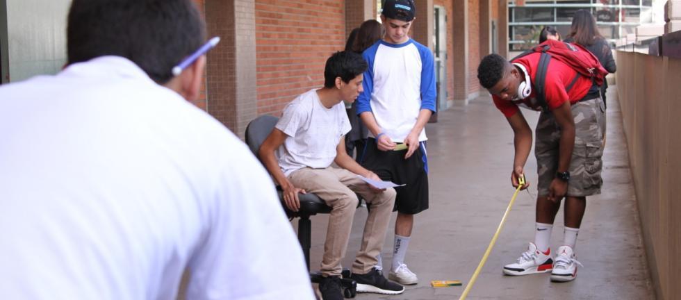Physics experiment at Pasadena City College