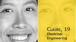 Claire, 19, Electrical Engineering
