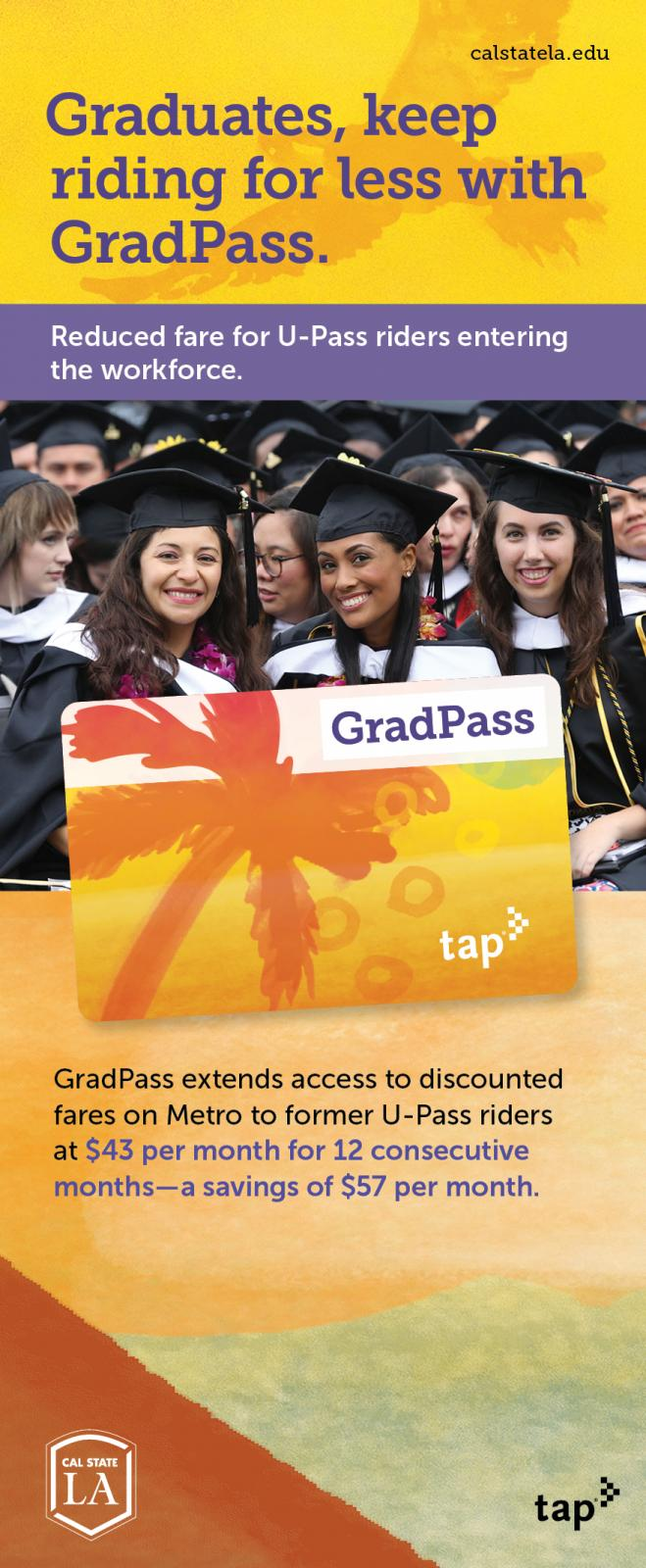 Graduates, keep riding for less with Grad-Pass