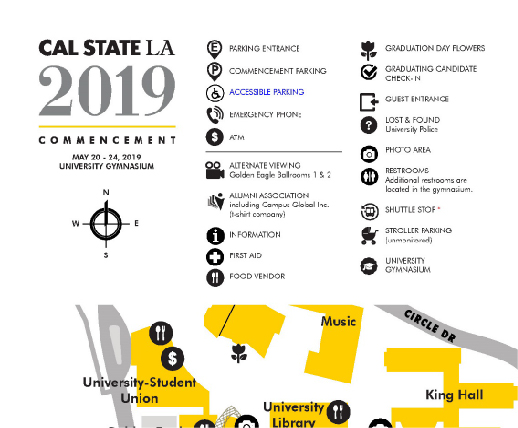 2019 Commencement Map