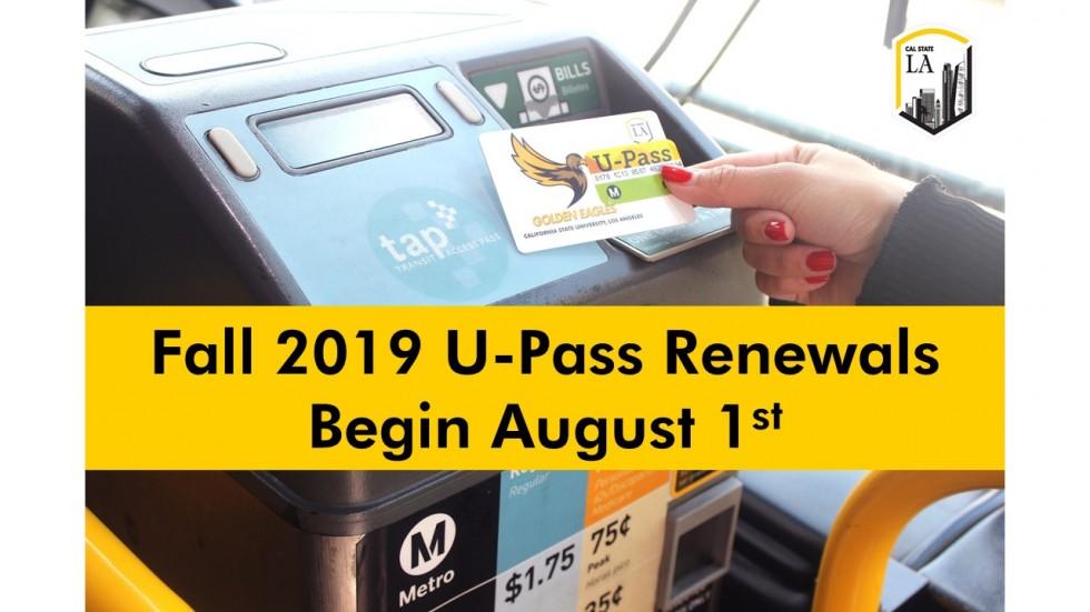 Fall 2019 U-Pass Information